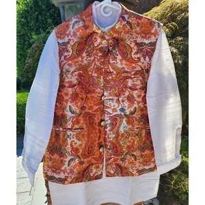 """Brand New"""" Ethnic wear silk kurta pajama with jacket - Indian size 40"""